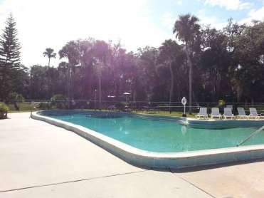 Sugar Mill Ruins Travel Park in New Smyrna Beach Florida Pool