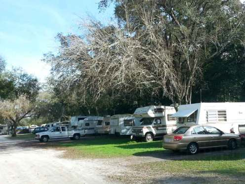 Tampa RV Park in Tampa Florida Backins