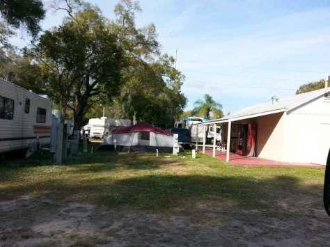Tampa RV Park in Tampa Florida tent site