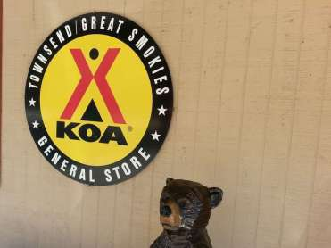 Townsend / Great Smokies KOA in Townsend Tennessee Office Sign