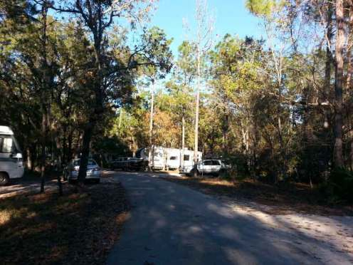 Wekiwa Springs State Park Campground in Apopka Florida Roadway
