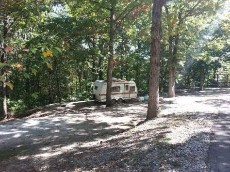 Compton Ridge Campground and Lodge in Branson Missouri Backin Site