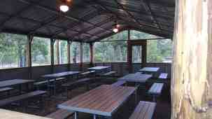 Group area with tables