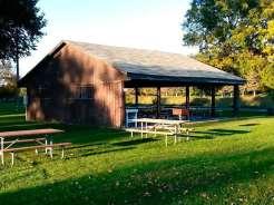 Ambush Park Campground in Benson Minnesota Pavilion