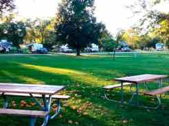 Ambush Park Campground in Benson Minnesota Picnic Area