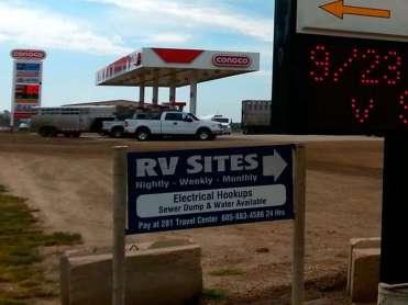 281 Travel Center in Wolsey South Dakota Sign