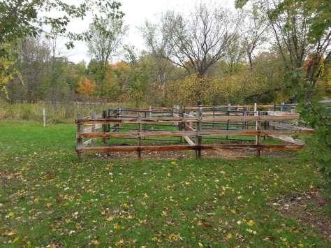 Elm Creek Park Reserve Horse Camp near Dayton Minnesota Horse Corral