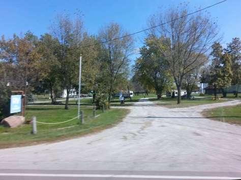Humeston RV Park and Picnic Area in Humeston Iowa Entrance from US 65