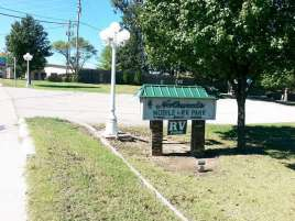 Northwoods Mobile & RV Park in Branson Missouri Small sign can be easy to miss