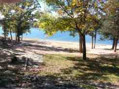 Aunts Creek COE Campground in Reed Springs Missouri (Branson West) beach area