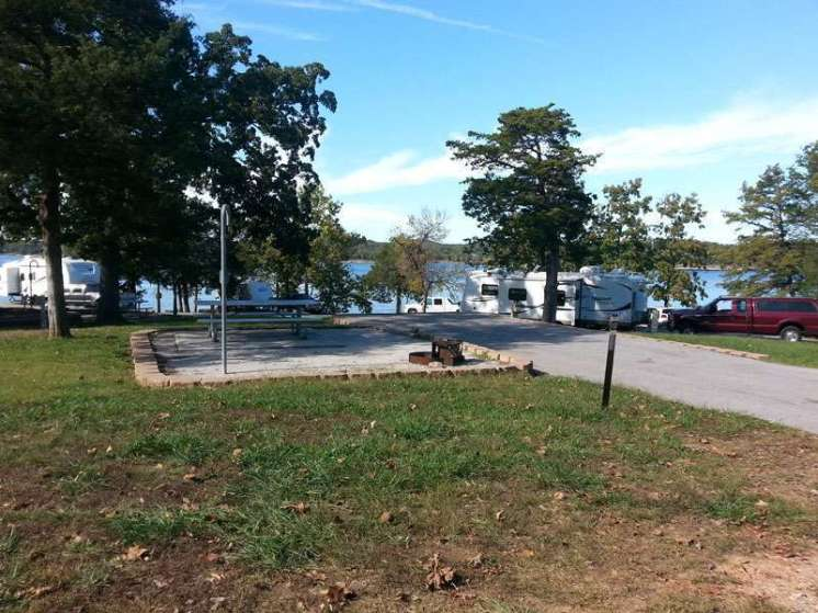 Mill Creek Campground COE in Lampe Missouri backin