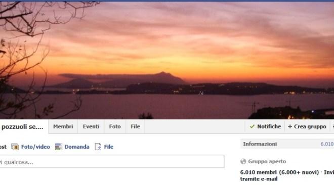 """Facebook, il gruppo """"Se sei di Pozzuoli..."""" oltre 6mila membri e migliaia di post in soli quattro giorni"""