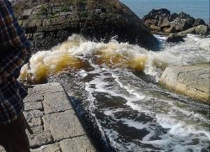 Depuratore di Cuma - il canale d'immissione delle acque nel mare di Licola
