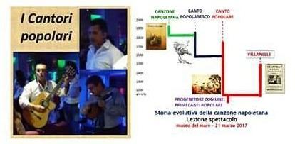 """Lo spettacolo """"I Cantori Popolari"""" questa sera al Teatro Sant'Artema di Monteruscello"""