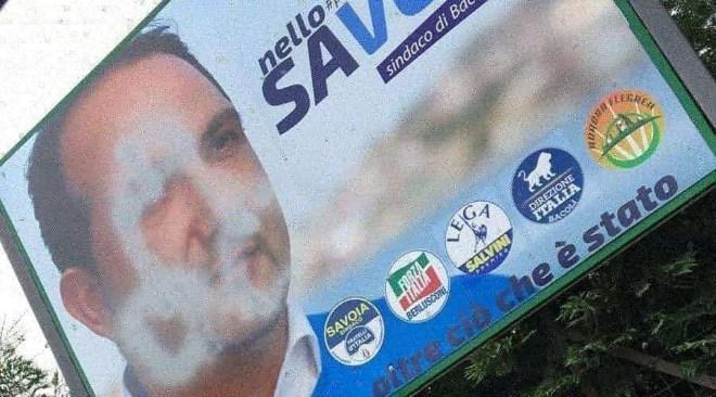 """Vandalizzati i manifesti di Savoia a Bacoli e Meloni a Quarto. Fratelli d'Italia: """"Provocazioni da chi non ha argomenti"""""""