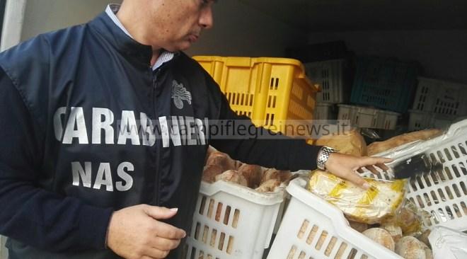 QUARTO/ Sequestrati 170 kg di pane e sigilli ad un deposito di un panificio in via Marmolito