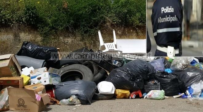 QUARTO/ Multe di 3mila euro a chi sversa rifiuti illeciti ed è beccato dalle foto-trappole del Comune