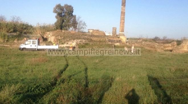 LAGO PATRIA/ Iniziati i lavori di manutenzione per l'apertura del sito archeologico di Liternum -LE FOTO