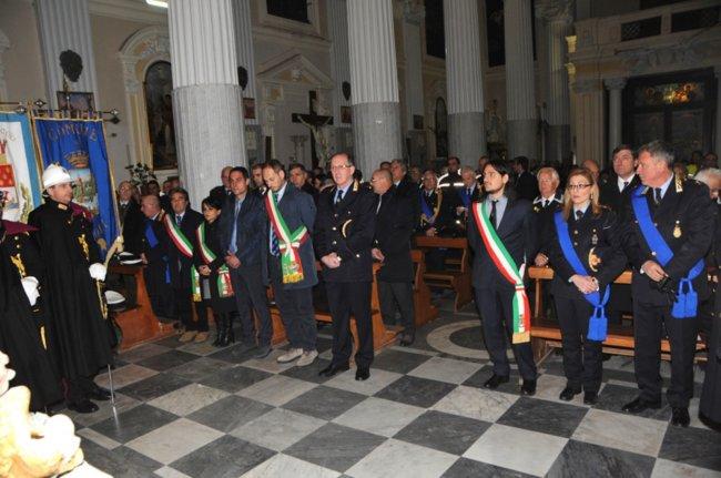 I vigili urbani dei Campi Flegrei festeggiano San Sebastiano al Duomo di Pozzuoli