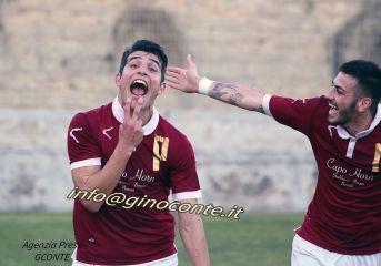 """CALCIO/ E' tornato """"bum bum"""" Roberto Palumbo: quarta doppietta e re del goal del girone"""