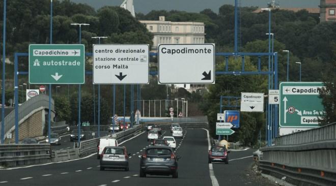 Tangenziale di Napoli, chiuso lo svincolo di Capodimonte dal 7 all'8 maggio