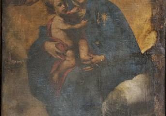 Tela raffigurante la Madonna di Costantinopoli scoperta a Pozzuoli