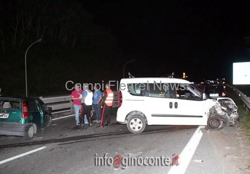 Monteruscello, incidente su Anas. Auto perde semiasse e ruota. Molta paura nella notte