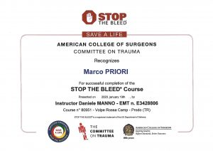 Istruttori campi natura stop the bleed