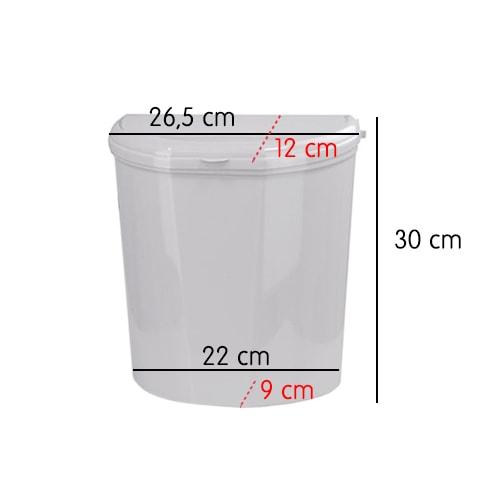 Divers Vaisselle Accessoire Poubelle Rigide 4 5 L Blanche Pour