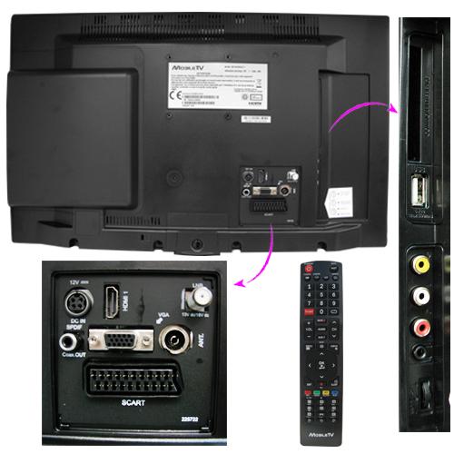 tv hd led dvd 49cm mobile tv module fransat