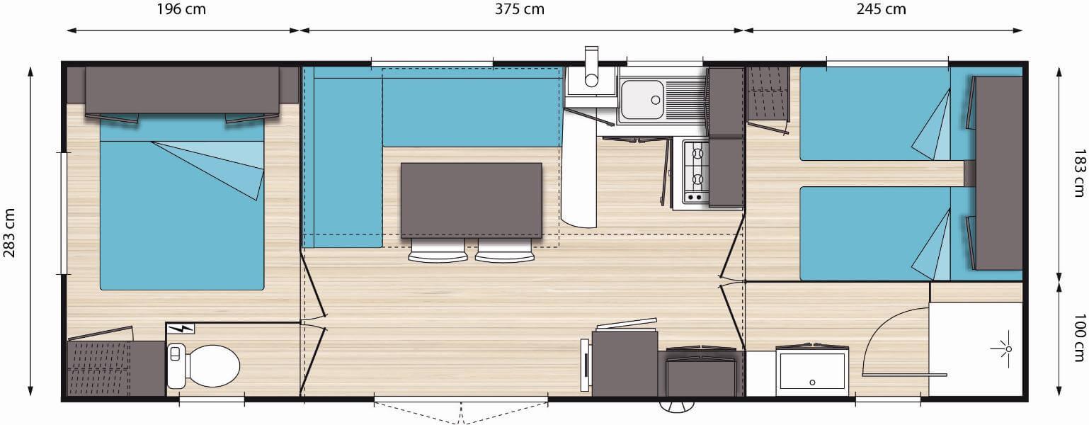 plan_mobil-home_panoramique_quattre_places_camping_les_cerisiers_vernet_les_bains