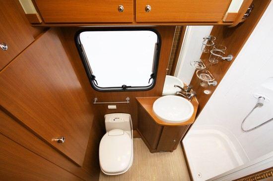 Bobilens bad og toalett
