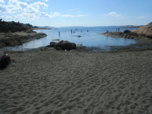 Badestranden i Kålvika.