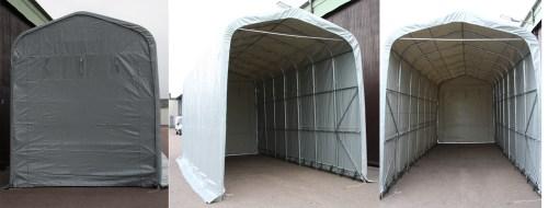 Vinterlager for bobil i telt