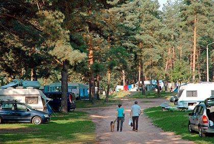 Naturskjønne omgivelser rundt campingplassen