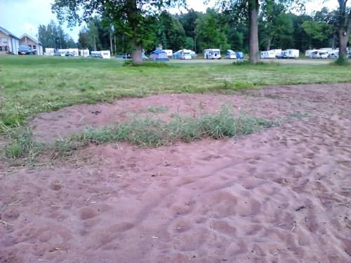 Campingplassen sett fra Vänern