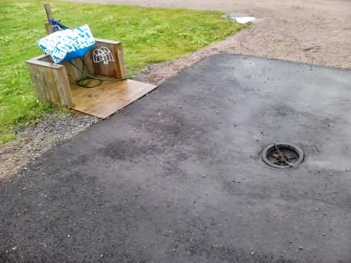 Plass for tømming av gråvann