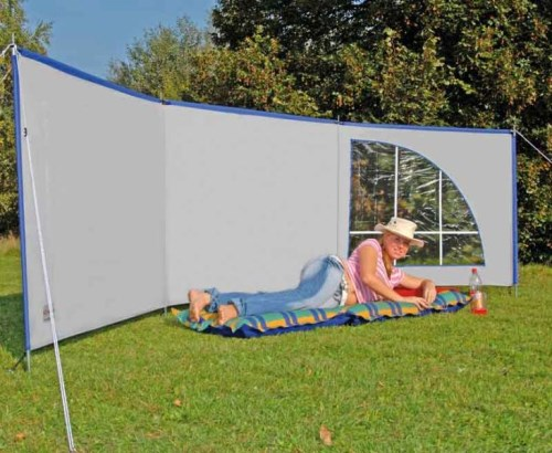 Vindskjerm - levegg til bobiler og campingvogner på campingplasser