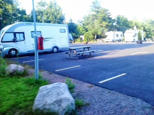 Lisebergs Ställplats med god plass rundt bobiler