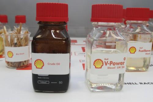 Shell fremstiller ulike typer drivstoff i Hamburg