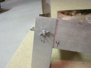 Here is the corner where I would have drilled larger holes.