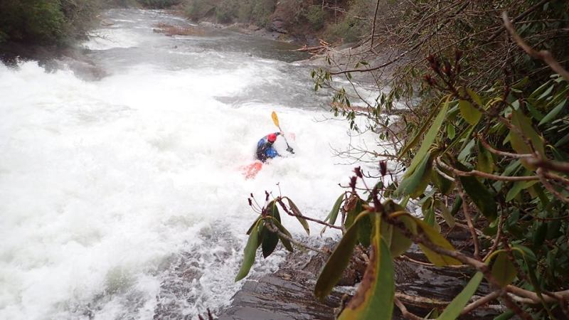 Adam Herzog at Big Bend Falls, Section 1. Photo David Cohen.