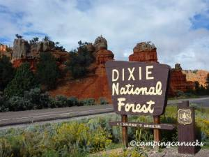 Dixie National Forest entrance