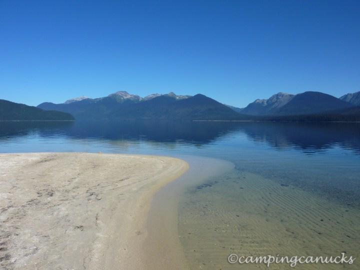 Sandy Point beach looking at the Wavy Crest Range