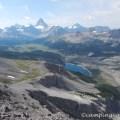 Assiniboine and Og Lake from the top of Og Mountain
