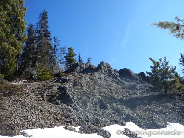 A last scramble to the ridge