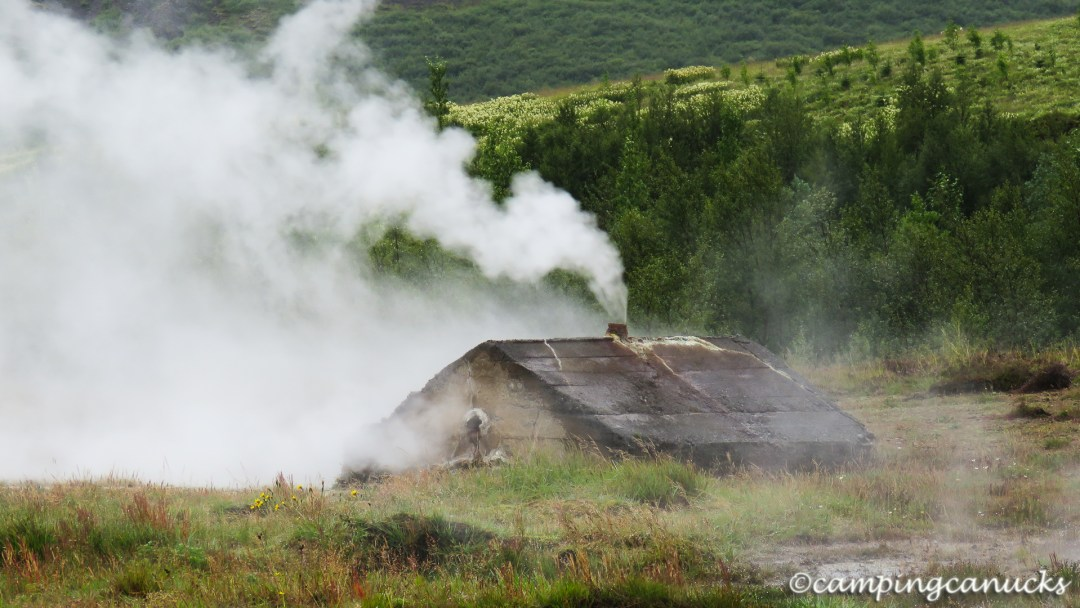 Steaming building of some sort