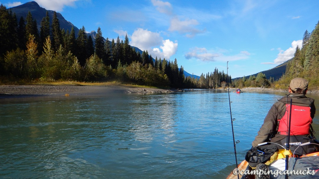 Paddling down the Cariboo River