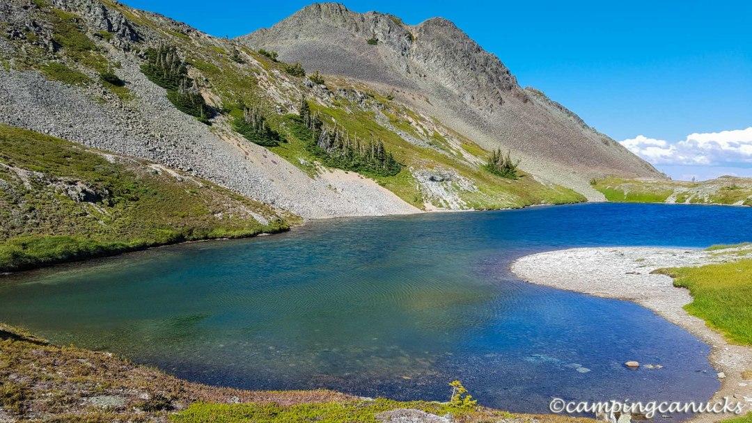 The lake at the base of Illal Mountain