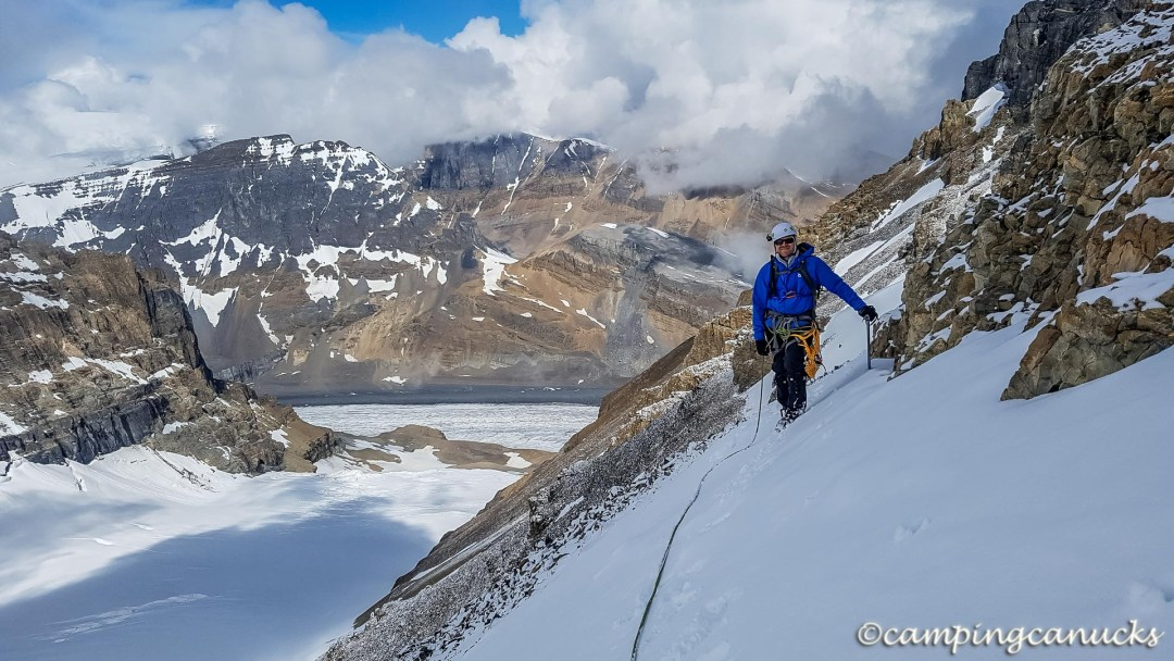 Heading up the col